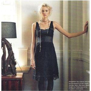 Anthropologie Odille December Lace black dress